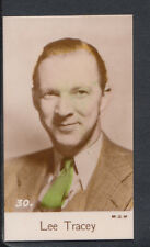 Bridgewater Biscuits, Film Stars 1935 4th Series Card, No 30 - Lee Tracey
