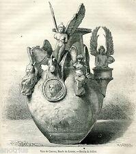 Vaso di Canosa di Puglia,1. Nel museo del Louvre, a Parigi. Stampa Antica. 1881