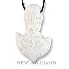 Mjolnir amuleto Bone ossa Thor Hammer vichinghi Celtic Celtico design pb318