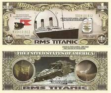 RMS Titanic Commemorative Million Dollar Bill