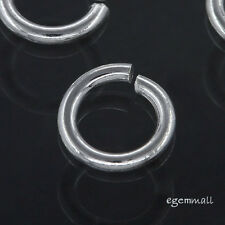 12 Sterling Silver Open Jump Ring 6mm 18ga #51739