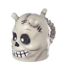 SKULL Skeleton Bones Topsy Turvy ceramic Mug Halloween Upside Down Fun NEW