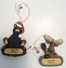 Bearfoots J Fleming P Driscoll Bear And Moose Life Ornaments Sisters Oregon