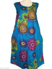 Geblümte Damenkleider im Tuniken-Stil aus Viskose