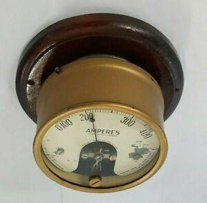 "Vintage Westinghouse  0-400 Amperes 4 1/4"" Gauge Meter ~Steampunk Décor~"