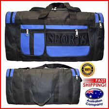 Sport Travel School BAG gym backpack Double Zip Multi pocket Navy Black #8108