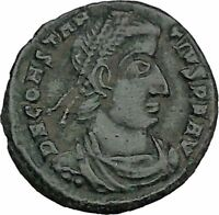 CONSTANTIUS II Constantine the Great son Ancient Roman Coin Battle Horse i44462