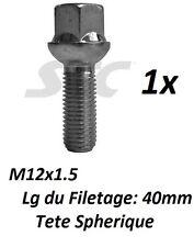 95-02 W210 Verrouillage roue boulons 12x1.5 noix conique pour mercedes classe e