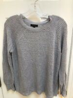 J Crew Sweater - Small Womens Steel Gray Light weight Linen Blend