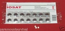 IOSAT Potassium Iodide Thyroid Blocking Pills Radiation Emergency Survival 130mg