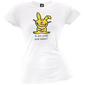 Happy Bunny - Real Name Juniors T-Shirt