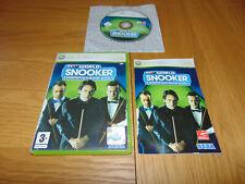 WSC World Snooker Championship 2007 (Microsoft Xbox 360, 2007) PAL