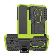 Für Motorola Moto G7 Play Hybrid Case 2teilig Outdoor Grün Tasche Hülle Etuis