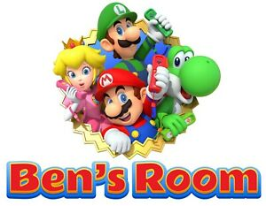 Personalised Any Name Super Mario Wall Decal 3D Art Sticker Vinyl Room Bedroom 9