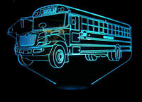 School Bus Custom 3D Light Driver Gift NEW with Extras