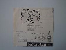 advertising Pubblicità 1956 ROGER & GALLET