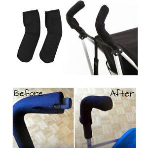 Baby Pram Pushchair Stroller Fabric Handlebar Handle Bar Bumper Fastener CoverJ