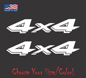 (2) 4x4 Truck Vinyl Decal Set for Dodge Dakota Ram Ford Chevy Jeep Stickers