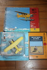 Lot TINTIN L'Avion du Crabe aux Pinces d'Or + DVD reportage + Livre+ 4 chocolats