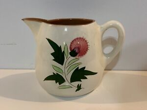 """Vintage Stangl Pottery Hand Painted """"Thistle"""" 32 oz Pitcher"""