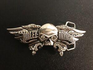 Harley-Davidson women's Willie G skull,wings&rhinestones belt buckle.#97849-08VW