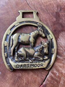 Horse Brass Vintage Dartmoor Ponies Pony Horseshoe