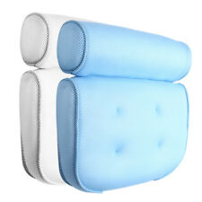 3D Mesh Spa Bath Pillow Breathable with 4 Suction Cups Neck & Back Support Bu
