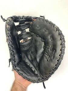 "Akadema AJJ254 ProSoft Series 12"" Baseball First Base Mitt Glove Black Leather"