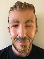 DAVID BECKHAM MASK LATEX OVERHEAD ENGLAND FOOTBALLER MANCHESTER MADRID MASKS