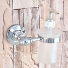 Polished Chrome Wall Mounted Kitchen & Bathroom Sink Liquid Soap Dispenser