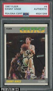 Danny Ainge Celtics Signed 1987-88 Fleer Basketball #4 PSA PSA/DNA AUTO