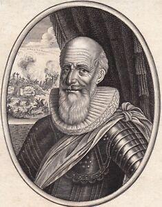 Portrait XVIIe Maximilien de Béthune Duc de Sully Maréchal Pair France Moncornet