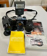 Pentax Program Plus with 3 Lenses and Flash and Extras - Excellent Condition