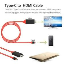 USB Type C to HDMI HD TV Adapter 2m Cable For Huawei Mate 10 Pro