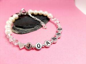 Luxury Personalised Birthstone Bracelet Made with Swarovski elements