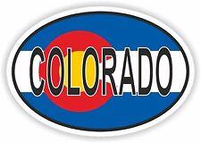 Oval Colorado Sticker for Locker Hard Hat Laptop Tablet PC Door Fridge Bumper