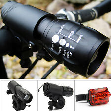 2 CREE Q5 LED Mountain Bike Bicycle Cycling Zoomable Head Front Lamp,Torch Light