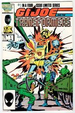 Marvel G.I. JOE AND THE TRANSFORMERS #1 - NM Jan 1987 Vintage Comic
