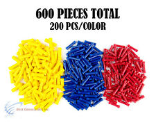 22-10 Gauge Red Blue Yellow Vinyl Butt Connector Terminal 600PCS 12 Volt Install