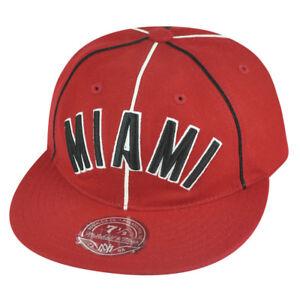 NBA Mitchell Ness Miami Heat G024 Team Prim Wool Fitted Hat Cap
