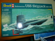 REVELL  1:230 scatola di montaggio in plastica SOTTOMARINO RUSSO USS SKIPJACK