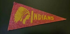 1930s RED BALL GUM MINI FELT BASEBALL PENNANT- CLEVELAND INDIANS