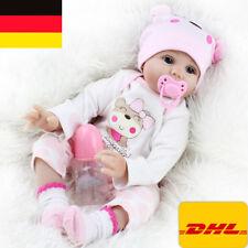 DHL!55cm reborn Baby Puppe Lebensecht Handgefertigt  Weich Silikon-Vinyl Mädchen