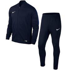 Boys Nike Football Sports Full Tracksuit Kids Junior Zip Bottoms Top M Age 10-12 Navy Blue