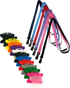 ID Card Badge Holder & ID Soft Neck Lanyard Strap - J-Clip Free P&P