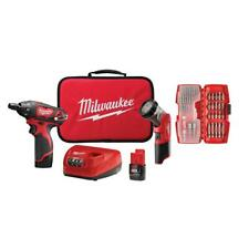 Milwaukee M12 12-Volt Lithium-Ion Cordless 1/4 in. Hex Screwdriver LED Light Kit