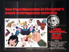 SLAP SHOT SLAPSHOT PAUL NEWMAN ICE HOCKEY 1977 BRITISH QUAD MOVIE POSTER