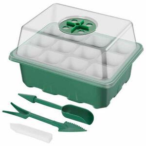 6Pcs 12 Cell Seed Tray Inserts Full Size Plug Trays Starter Plant Growing Set UK