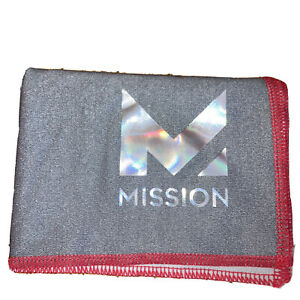 Mission Hydroactive Max Cooling Technology Cooling Towel in Charcoal/Tango Red