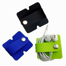Soft Silicone Earphone Cable Winder Holder Phone Charging Wire Cord Organizer